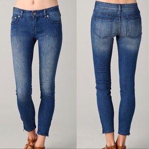 Free People zipper hem denim jeans